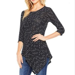 Two by Vince Camuto Large Shirt Asymmetric Tunic L
